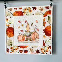 Autumn Quilts, Fiber Art Quilts, Yellow Mugs, Bird Quilt, Cute Pumpkin, Small Art, Fall Decorating, Wall Hangings, Flower Prints