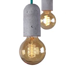 Concrete Pendant Lights from Luma eco textiles - crafted with care