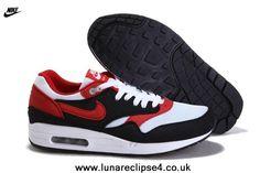 Nike Air Max 87 Men Shoes Black Red White