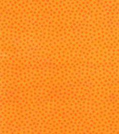 Jules & Coco Quilt Fabric Speckles Orange