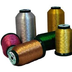 Successful Embroidery with Metallic Thread Embroidery Store, Machine Embroidery Thread, Machine Embroidery Projects, Machine Applique, Ribbon Embroidery, Machine Quilting, Embroidery Patterns, Serger Thread, Brazilian Embroidery