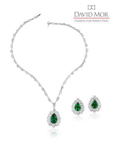 A phenomenal emerald and diamond set! Only the best at David Mor.  #DavidMorJewelry #earrings #necklace #jewelry #diamonds #handmade #jewels #emerald #flawless #accessories #statement #platinum #sparkle #natural #beauty #engagement #fancy #luxury #love #style #precious #highjewelry #platinumjewelry #instajewelry #rare #gems #luxuryjewelleryevents #jewelryofinstagram  #uniquejewelry #jewelrydesign