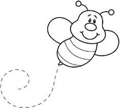Bee Pages Coloring Pages from Bee Coloring Pages For Kids. Have fun discovering pictures to print and drawings to color. Hours of fun await you as you color bee coloring pictures. The bee is an insect often kn. Bee Coloring Pages, Kids Printable Coloring Pages, Coloring Sheets For Kids, Animal Coloring Pages, Coloring Books, Animal Templates, Cute Bee, 3d Laser, Applique Patterns
