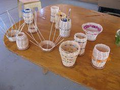 Teaching Handwork: 9th grade waldorf basket weaving, main lesson book making etc