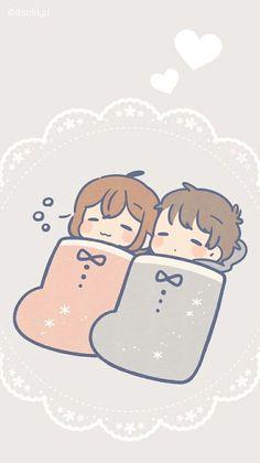 ┗┃kisawa┃┓【sundo ni naru】『alice cafe』●F. Cute Couple Poses, Cute Couple Drawings, Cute Couple Art, Anime Couples Drawings, Cute Anime Couples, Cute Drawings, Cute Anime Chibi, Kawaii Chibi, Cute Chibi Couple
