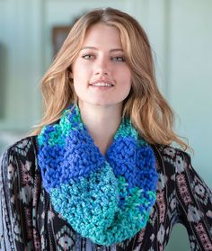 Uniquely You Calypso Cowl Combine Mixology Solids, Prints, and Swirls to cro...