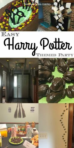 Great ideas for a Harry Potter themed birthday or Halloween party! Love the quidditch cake and floating candle idea!