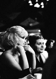 Marilyn and Paula Strasberg at the Actor's Studio Benefit, Roseland Ballroom, NYC, March 13th 1961.
