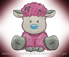 Lamb - Machine Embroidery Designs Set for a Babies and Children of a series Old Toy made by Liuba Tabunidze. Designs will look great on any