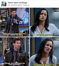 Cutest dorkiest couple ever❤️❤️❤️❤️❤️ Movies Showing, Movies And Tv Shows, Series Movies, Tv Series, Watch Brooklyn Nine Nine, Jake And Amy, Dc Legends Of Tomorrow, Parks N Rec, Best Shows Ever