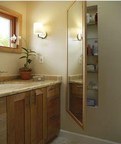 Hidden Storage for back bathroom