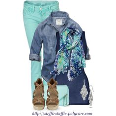 """""""Spring Blues"""" by steffiestaffie on Polyvore"""
