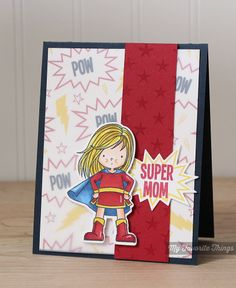 Star Background, You're Super, You're Super Die-namics - Kimberly Crawford #mftstamps