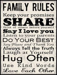 Family rules. sweet.