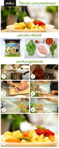 Pulpeciki z mięsa indyczego z warzywami z sosem pomidorowym.  http://www.daucyinspiruje.pl/przepis/pulpeciki-z-sosem-pomidorowym/