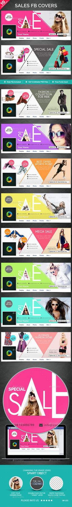 Sales Facebook Covers - 10 Designs Template #design Download: http://graphicriver.net/item/sales-facebook-covers-10-designs/12482702?ref=ksioks