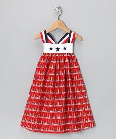 Red, White & Blue Fireworks Sundress - Infant, Toddler & Girls