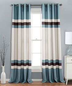 Look at this #zulilyfind! Blue Xavier Curtain Panel - Set of Two #zulilyfinds