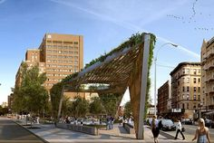 studio a+i, international competition to design AIDS Memorial Park, West Village, trellis, landscaping, green solutions, parks and gardens