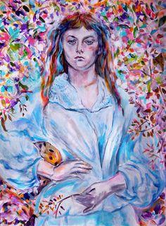 Alice (Liddel) (after Julia Cameron)  painting by Batya Kuncman #batya-kuncman #art