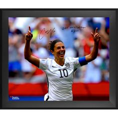 ab4c5aec6f2cc1 Carli Lloyd US Women s Soccer Team Fanatics Authentic 2015 World Champions  Framed Autographed 20