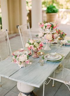 Pride and Prejudice Wedding Inspiration - another table setting.