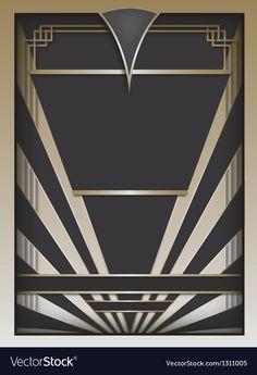 ideas for art deco design pattern poster Art Deco Stil, Art Deco Decor, Motif Art Deco, Art Deco Design, Motif Design, Design Elements, Art Nouveau, Invitaciones Art Deco, Interiores Art Deco