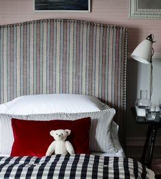 Design Classics | Nautical | Jura Stripe Fabric by Ian Mankin | Jane Clayton