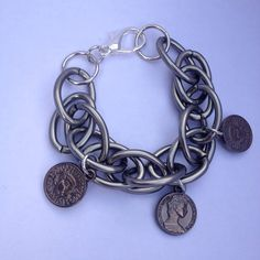 Coin Bracelet by BlackPearlCouture on Etsy