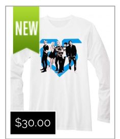 38ad4d84e2ec Super-soft 100% cotton white longsleeve tee with new R5 band photo graphic  front
