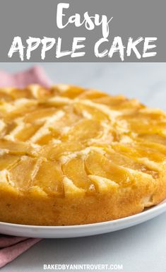 Delicate fluffy Apple Cake loaded with fresh apples! This is one Fall dessert y - Cake Recipes - Vegetarian Recipes Easy Apple Cake, Apple Cake Recipes, Best Dessert Recipes, Fruit Recipes, Cupcake Recipes, Baking Recipes, Cupcake Cakes, Apple Cakes, Cheesecake Recipes