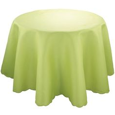 Mint Pantry Polyester Round Tablecloth Color: Celery, Size: 90""