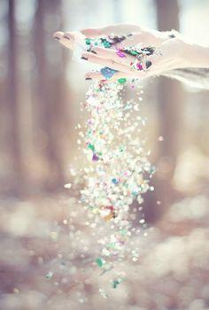 Glitter rain....