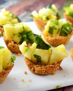 #GlutenFree Ancient Grain Coconut Cups with Pineapple Salsa Recipe l #WhatTheHack