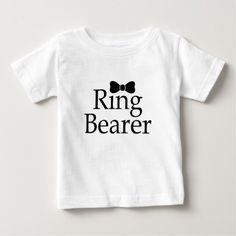 Ring Bearer Black Bow Tie Baby T-Shirt