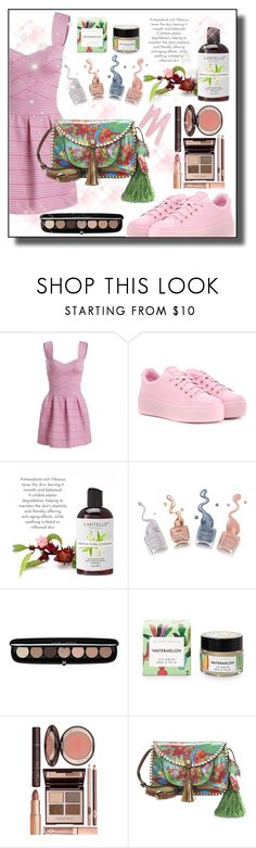 """""""Sweetheart Neck Ombre Mini Dress"""" by sabine-promote ❤ liked on Polyvore featuring Kenzo, Marc Jacobs, Charlotte Tilbury, Patricia Nash and Urban Decay"""