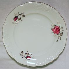 Dinner Plate, unidentified pattern (1950s) by Wawel, Poland (Philip Rosenthal Krister Porzellan Cartel, Bavaria).