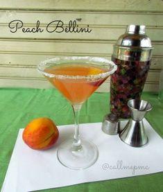 Peach Bellini Martini - Call Me PMc