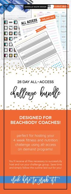 Coach Group Bundle : 28 Day All-Access Fitness Challenge // Host your next on-demand 4 week fitness challenge group! Tracker sheet, workout calendar, and daily image postings! // Workout Challenge // Challenge Group // On-Demand // Streaming Workouts // Beachbody On Demand // On Demand All-Access /// Beachbody workouts // 4 Week Challenge // 28 Day Challenge // Health & Wellness Challenge // Beachbody coaching
