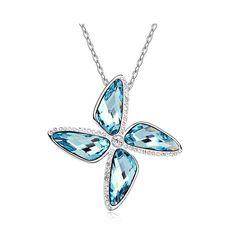 Österreichischen Kristall Blau Windmühle Halskette