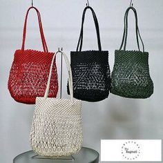 Macrame Bag, Yahoo, Straw Bag