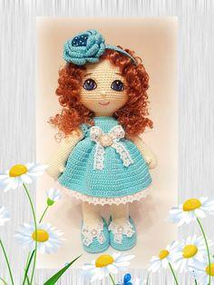 Leithygurumi: Tatiana Meshcheryakova - Mavi Elbiseli Bebek Türkçe Tarif / The Doll with Blue Dress Turkish Pattern