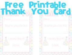 Free Printable Fill-in-the-blank Thank you Card