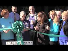 Rivertown Roasters on Main Ribbon celebration