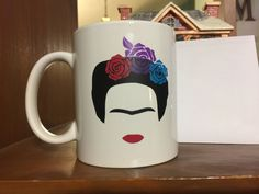 A personal favorite from my Etsy shop https://www.etsy.com/listing/578201659/frida-kahlo-white-coffee-mug