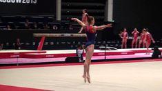 Gymnast Veronika Cenkova perform floor routine Gymnastics, Routine, Wrestling, Floor, The Originals, Music, Sports, Fitness, Lucha Libre