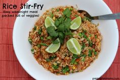 Rice Stir-Fry! An easy weeknight meal packed full of veggies!
