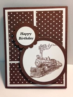 Traveler, Masculine Birthday Card, Stampin' Up!, Rubber Stamping,  Handmade Card