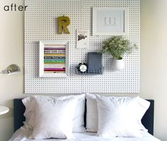 Peg Bedroom Accent Wall #functional #style