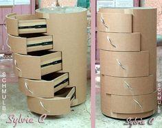 Jason Schneider makes amazing, curious, innovative, practical furniture designs from corrugated cardboard – BuzzTMZ Diy Cardboard Furniture, Cardboard Box Crafts, Cardboard Paper, Paper Crafts Origami, Diy Furniture, Diy Home Crafts, Diy Arts And Crafts, Cardboard Organizer, Diy Storage Boxes